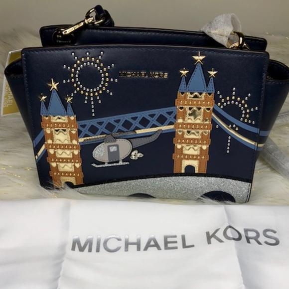 29c8e77fd7c4 Michael Kors Bags | Nwt Selma Nouveau Novelty Messenger | Poshmark